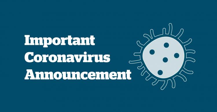 Important Coronavirus Announcement