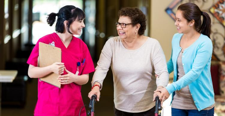 Nurse with Patient and Carer