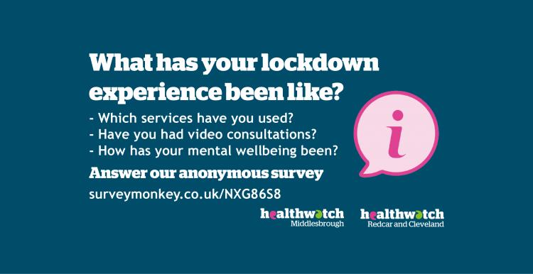 Lockdown experience survey advertisement