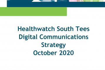 Healthwatch South Tees Digital Communications Strategy front cover
