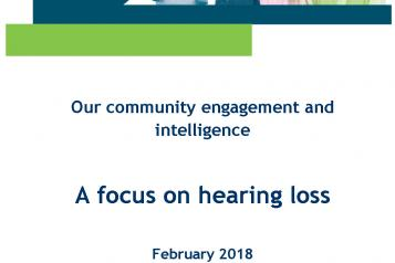 Hearing Loss Summary Report front cover