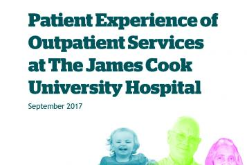 Patient Experience of Outpatient Services Report front cover