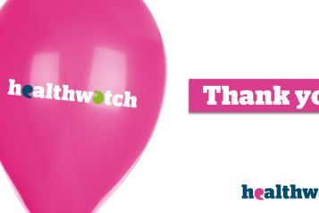 A Thank You message from Healthwatch Middlesbrough