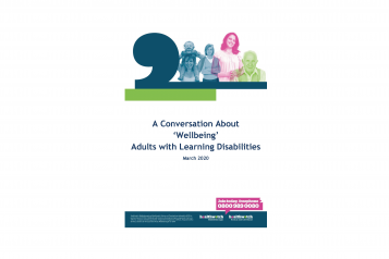 A Conversation About 'Wellbeing' Adults with Learning Disabilities front cover