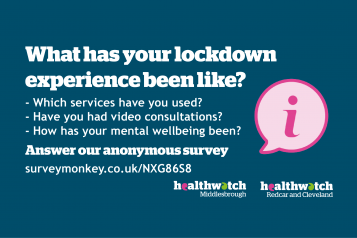 Lockdown experience survey advertisement