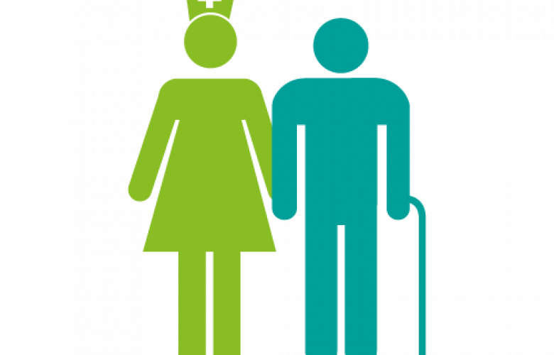Nurse with older person