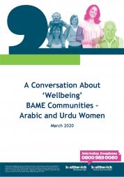 Conversation about Wellbeing - BAME Front Cover