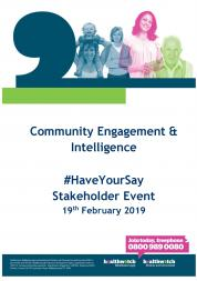 Stakeholder Event front cover