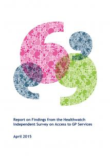 Access to GP Services Report front cover