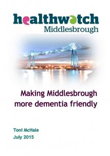 Making Middlesbrough more Dementia Friendly front cover