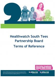 Terms of Reference front cover